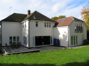 Rear of house after extension and refurbishment finished
