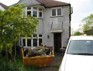 Front of house before refurbishment work carried out