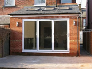 After rear extension and addition of bi-fold doors